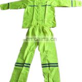 customized sanitation worker high visibility fluorescent reflective safety raincoat clothing