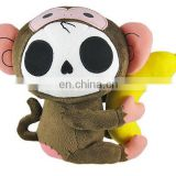 factory wholesales plush skull doll toy halloweed Christmas gift