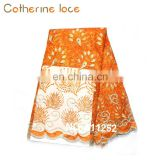 Catherine Bridal Beading Dress Embroidery Designs Orange African Lace