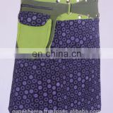 Lovely Grape Shade Exotic Flower Print Gypsy Wrap Around Skirt With Belt HHCS 111 F