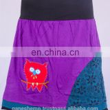 Beautiful Crochet Owl In Purple Shade with Floral Prints Skirt HHCS 110 C