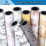 OUHOME Self-adhesive Wallpaper Cabinet Waterproof Stickers Marble Pattern Glossy Furniture Renovation Film