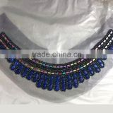 0521L High Quality beaded neck trim,beaded neck trim for T-shirt,wholesale beaded neck trim