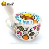 Custom design ceramic cookware bowl & spoon set for promotional gifts