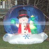 New style inflatable christmas decorative giant oxford cloth simulation inflatable snow globe