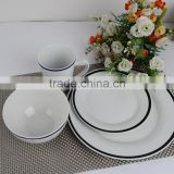 porcelain dinner set with glaze line glaze line dinner set produced in shandong linyi purchase from factory