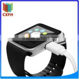 Hot selling product black smart watch gt08 with sleep monitor pedometer smart phone