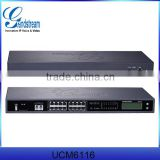 IP PBX FXO port grandstream UCM6116 grandstream UCM6116 product 16 PSTN Line Gateway