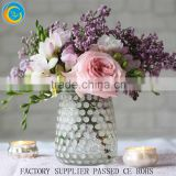hand blown decotative big round spotted glass flower vases gold flower pots wholesale                                                                         Quality Choice