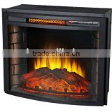 CSA & CE approved cheap electric fireplaces main material steel and resin for indoor use