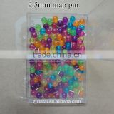 Wholesale 80pcs bright color ball head thumb tacks push pins