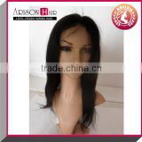 Wholesale full lace wig chinese virgin silk top