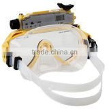 5Mp Sensor Rechargeable Built-in Li-Battery Waterproof HD Digital Diving Mask Video Camera With Digital Video Recording