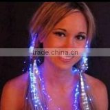 Colorful Flash LED Braid The Colorful Luminous Braid Optical Fiber Wire Hairpin LED Light Hair Party SJ-