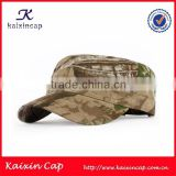 high quality wholesale camo digital printing flat top military cap army hat