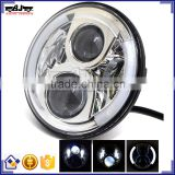 "BJ-HL-017 High Quality 12V Aluminum 7"" Round Projector HID Headlight Motorcycle LED Headlamp For Harley Davidson"