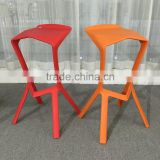 High Quality Modern Design Bar Furniture All Polypropylene Plastic Bar Chair/ Sturdy PP Bar Stool