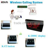 Wireless Restaurant Table Bell System Guest Buzzer Bell Service For Restaurtant Waterproof Button, Waiter Caller