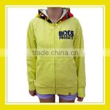 Hot Promotion Products Bros Unisex Long Sleeve Cotton Yellow Printed Bros Family Pattern Zippered Hoodie