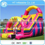 China PVC Tarpaulin Inflatable Rainbow Slide,Commercial Inflatable Giant Slide For Sale,Bouncer Slide