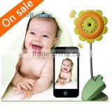 Flower WIFI Camera Baby Monitor Night Vision Function Built-in Mic support Video Record