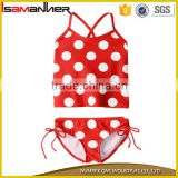 Dot printing 2-7 years cute sexy triangle little girls sexy bikini                                                                                                         Supplier's Choice