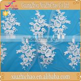 M0116-165A new fashion design embroidered flower net lace fabric for making wedding dress