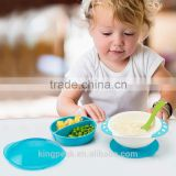 2016 New Product Plastic Spill Proof Suction Baby Bowl/Kids Suction Food Bowl /Toddlers Bowls BPA free/Kids training bowls