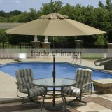 Garden outdoor patio umbrella parts solar swimming pool umbrella
