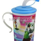 promotional 3d lenticular printed PP cup with handle