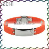 Fashion Jewelry BIO Energy 316L stainless steel Silicone Bangle