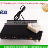 RDB FTP BT Multimedia mini full hdd media player 1080p hd tv with RS232 Control Push button Motion sensor DS009-48