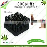Ocitytimes 300puffs/500puffs empty disposable electronic cigarette New invention cbd oil pen
