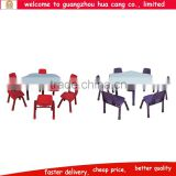 2016 China guangzhou colorful wooden table and six chair set for dinner