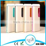 High quality laptop wireless powerbank slim 6000mah portable power bank 8000mah for moblie phone with LED light