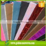 Laminated non woven(Spunbonded +pp film +spunbond ),12g opp film laminated nonwoven fabric cloth for bags