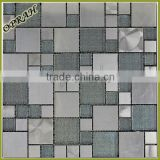comfortable random pattern surface metallic glass mosaic house tile