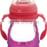 Best sell high quality low price BPA free double handle 8oz 240ml glass milk feeding bottle for baby wholesale