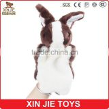 super soft rabbit hand puppet customize plush bunny hand puppet kids little bunny finger puppet