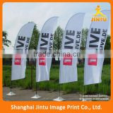 2016 Custom Advertising Feather Beach Flags/Custom Advertising outdoor teardrop flying feather flag pole&beach flags