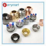 AV mini deck HUBBLE v2 mini rda brass rebuildable atomizer mini av cap with battle deck wholesale
