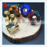 Wholesale Gyre mod kit wide bore drip tip ecig brass gyre drip tip Resin drip tips slow-twisted drip tips set