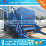 8m3 swing arm container garbage truck, 6 ton Dongfeng Chassis garbage container lift trucks