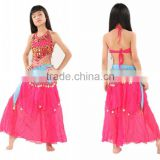 SWEGAL fashion lovely red and azure belly dance performance coin chirdren skirts SGBDT13088