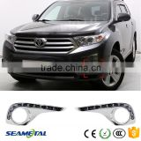 Car LED Auto Daytime Running Lights Fog Lamp DRL For Toyota Highlander 2011 2012 2013                                                                         Quality Choice