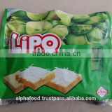 LIPO Coconut Cookies in assorted biscuits 230g/bag brand biscuit for Thailand, Malaysia, Cambodia