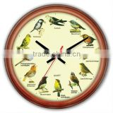 "16"" Bird Singing Wall Clock"