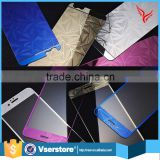 hot new products 2016 For Iphone 6 6s Aluminium Alloy color Tempered Glass Screen Protector
