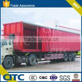 tri-axle curtain side open container semi trailer/curtain-sider semi trailer/ side curtain semi-trailer on sale