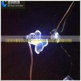 outdoor christmas light animals copper wire with shape butterfly white color angel light